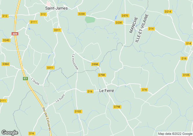 Map for LE FERRE, 35420, France