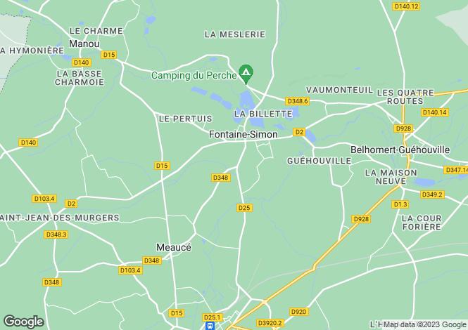 Map for Centre, Eure-et-Loir, Fontaine-Simon