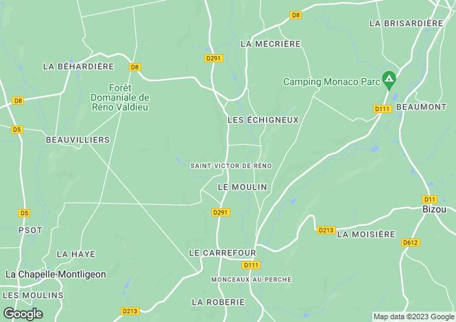 Map for st-victor-de-reno, Orne, France