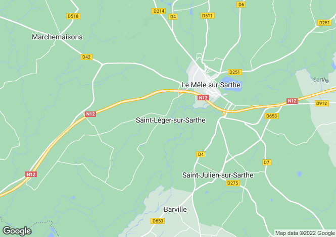 Map for st-leger-sur-sarthe, Orne, France