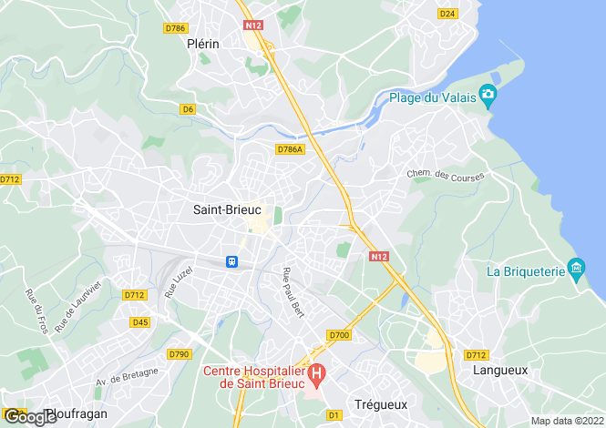 Map for St-Brieuc, Côtes-d`Armor, Brittany
