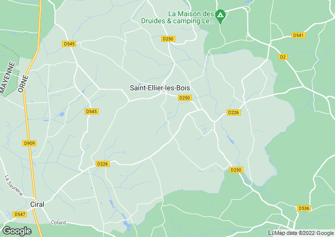 Map for St-Ellier-les-Bois, Orne, Normandy