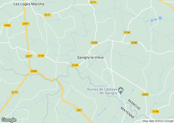 Map for savigny-le-vieux, Manche, France