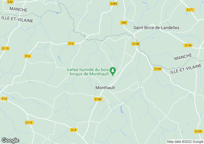 Map for Monthault ,Brittany ,France