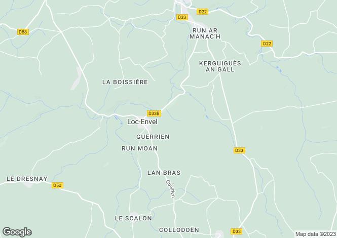 Map for loc-envel, Côtes-d'Armor, France