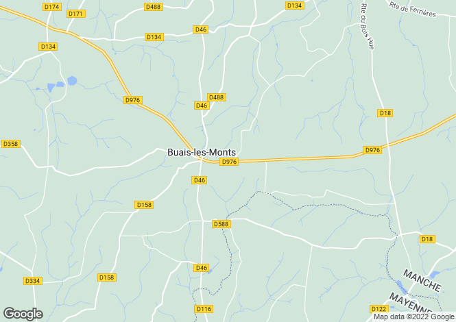 Map for Buais, Manche, Normandy