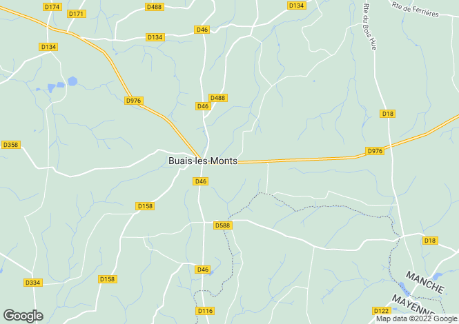 Map for Buais, Manche, 50640, France