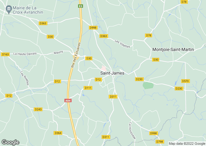 Map for Normandy, Manche, St-James