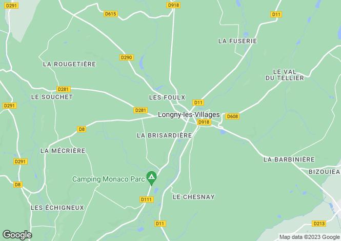 Map for longny-au-perche, Orne, France