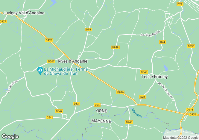 Map for Normandy, Orne, La Chapelle-d`Andaine