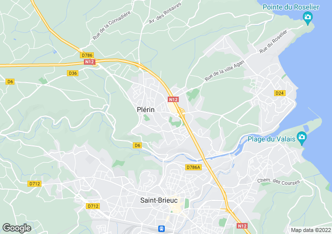 Map for Plérin, Côtes-d`Armor, Brittany