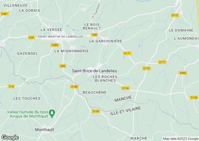 Map for Saint-Brice-de-Landelles, Manche, 50730, France