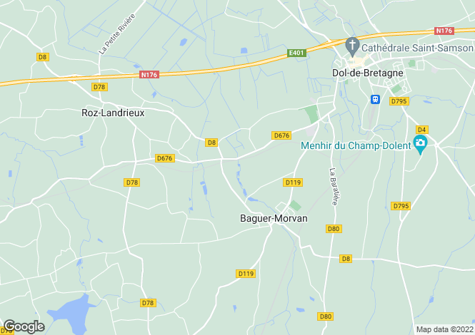 Map for baguer-morvan, Côtes-d'Armor, France