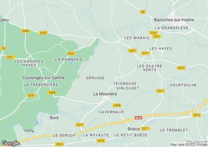 Map for la-mesniere, Orne, France