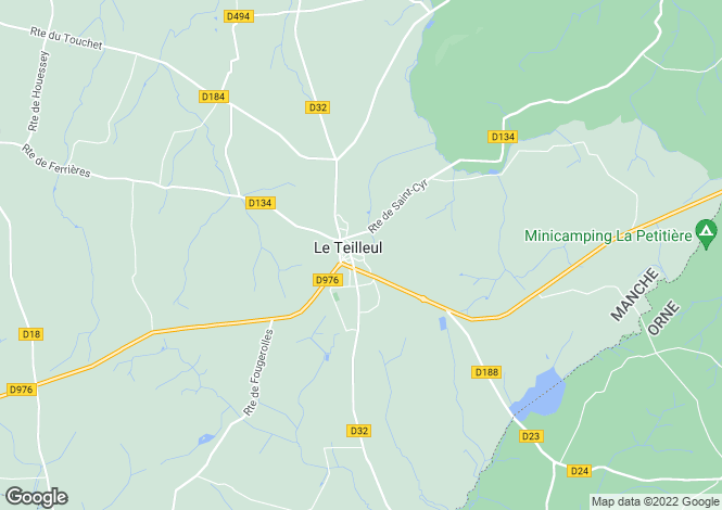 Map for Le Teilleul, Manche, Normandy
