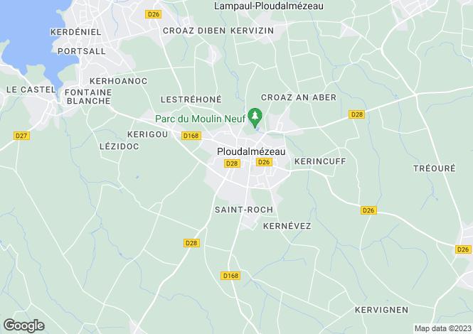 Map for PLOUDALMEZEAU, Bretagne