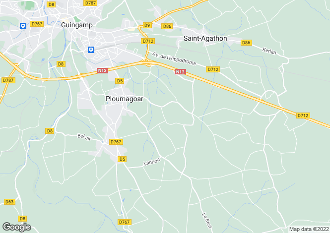 Map for Brittany, Côtes-d'Armor, Ploumagoar