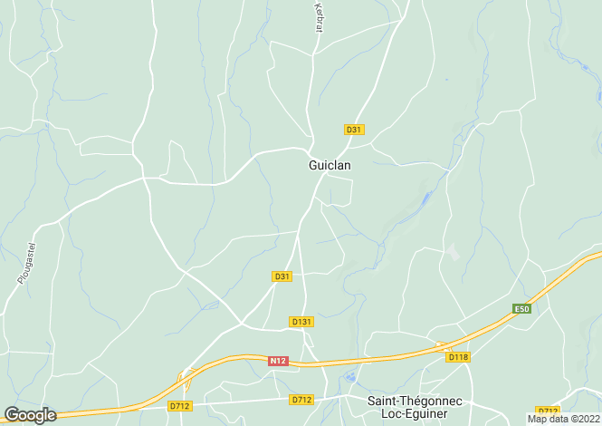 Map for guiclan, Finistère, France