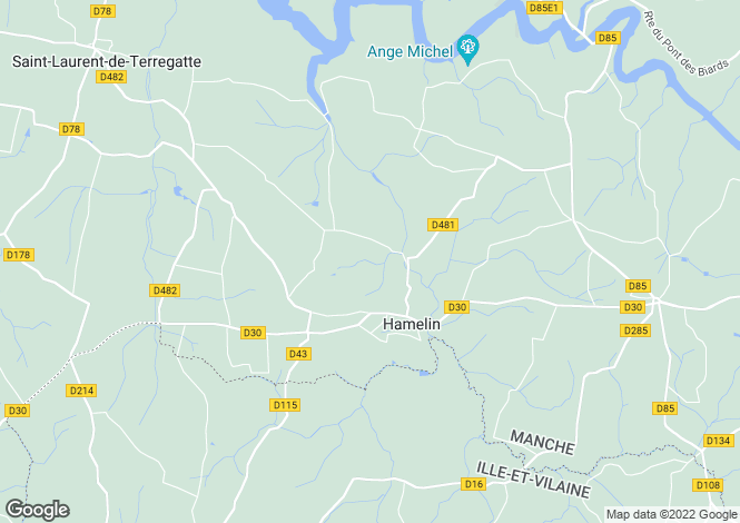 Map for Near Hamelin, Manche, Lower Normandy