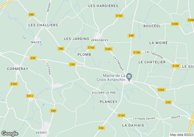 Map for Normandy, Manche, Villiers-le-Pré