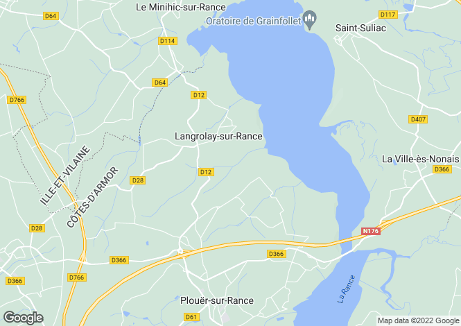 Map for Langrolay Sur Rance, Bretagne, 22490, France