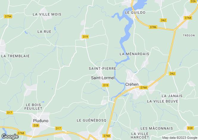 Map for st-lormel, Côtes-d'Armor, France