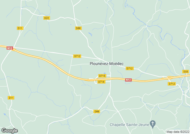 Map for PLOUNEVEZ MOEDEC, 22810, France