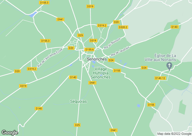 Map for senonches, Eure-et-Loir, France