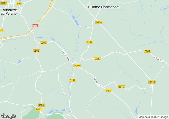 Map for maletable, Orne, France