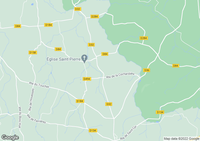 Map for Normandy, Manche, Husson