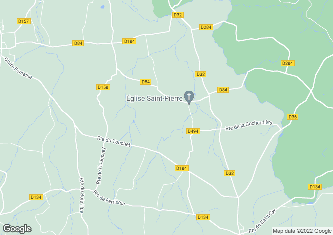 Map for Normandy, Manche, Ste-Marie-du-Bois