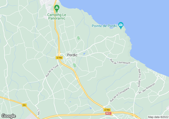 Map for pordic, Côtes-d'Armor, France