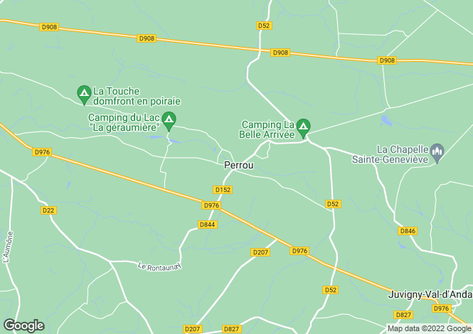 Map for Normandy, Orne, Perrou