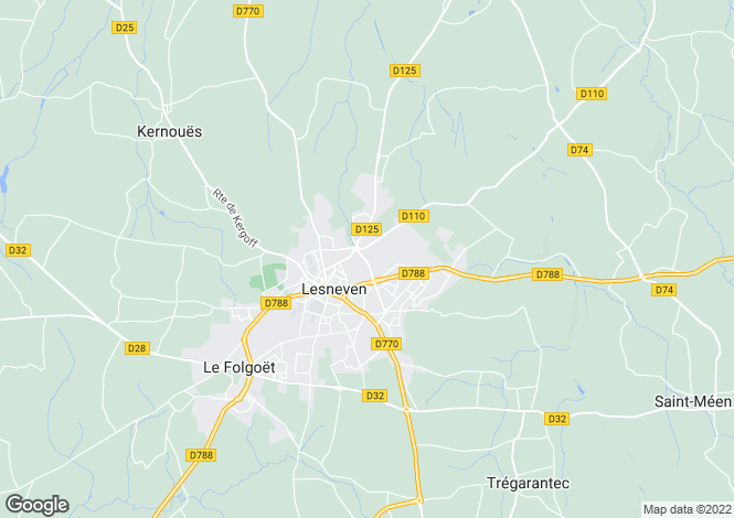 Map for LESNEVEN,