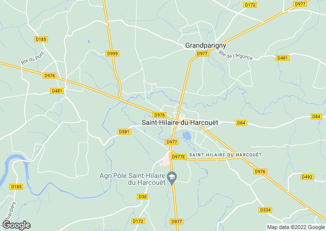 Map for Normandy, Manche, Saint Hilaire du Harcouet