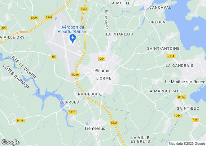 Map for Brittany, Ille-et-Vilaine, Pleurtuit