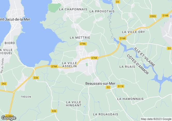 Map for Ploubalay, Bretagne, 22650, France