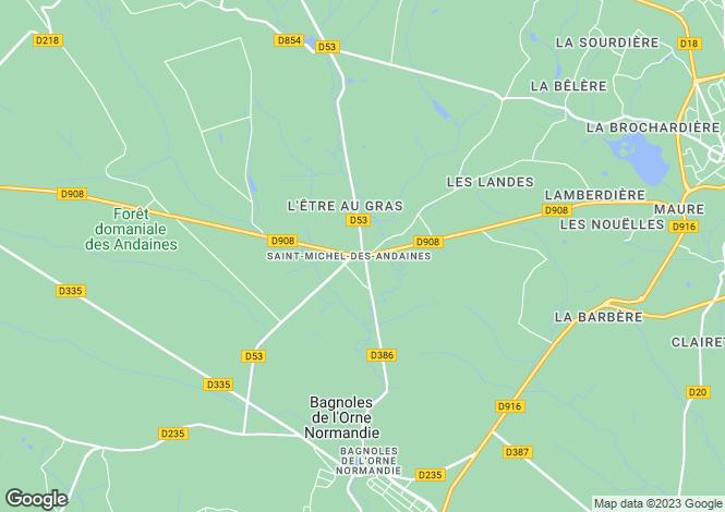 Map for st-michel-des-andaines, Orne, France
