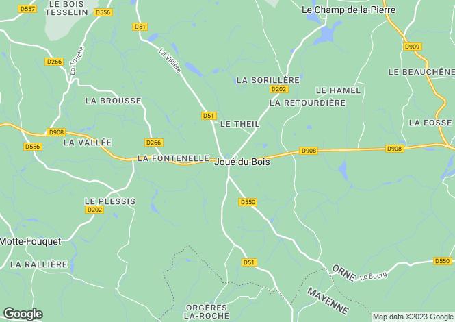 Map for joue-du-bois, Orne, France
