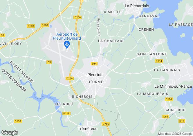 Map for pleurtuit, Ille-et-Vilaine, France