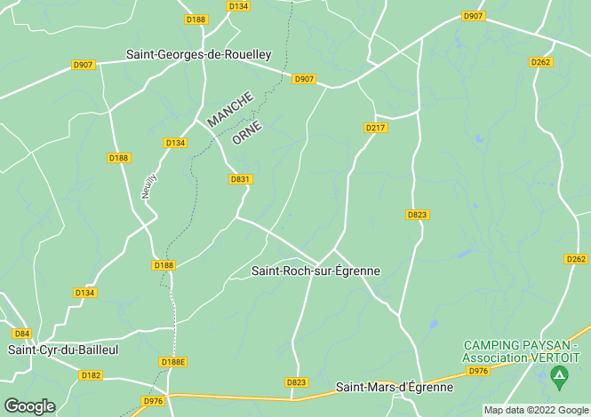 Map for Normandy, Orne, Saint Roch sur Egrenne