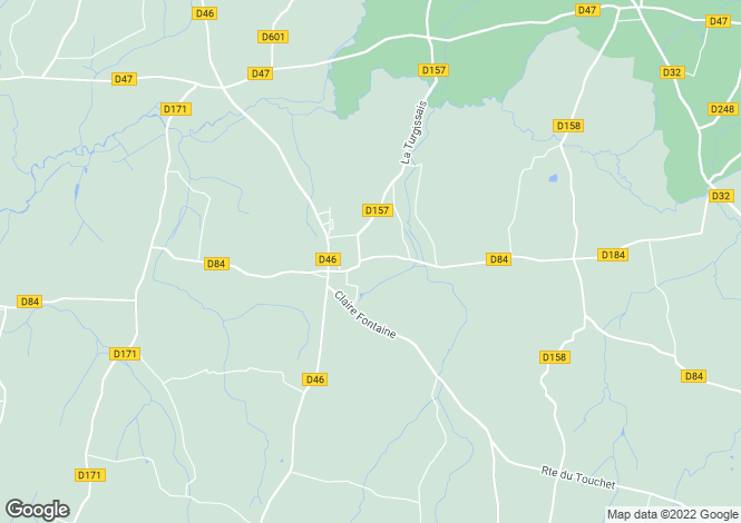 Map for notre-dame-du-touchet, Manche, France