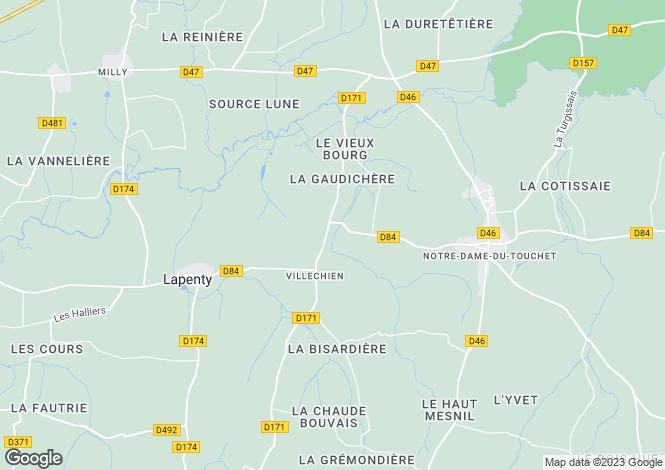 Map for Normandy, Manche, Villechien