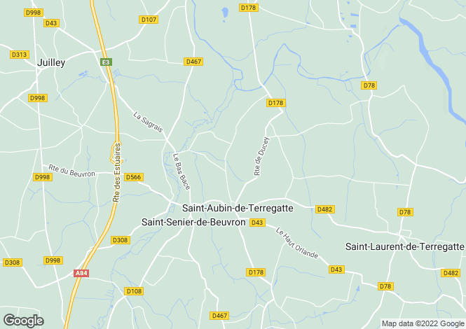 Map for Normandy, Manche, St-Aubin-de-Terregatte