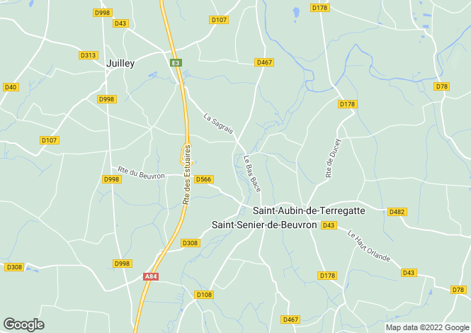 Map for st-senier-de-beuvron, Manche, France