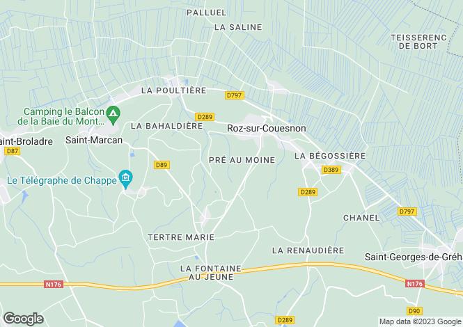 Map for Brittany, Ille-et-Vilaine, Roz-sur-Couesnon