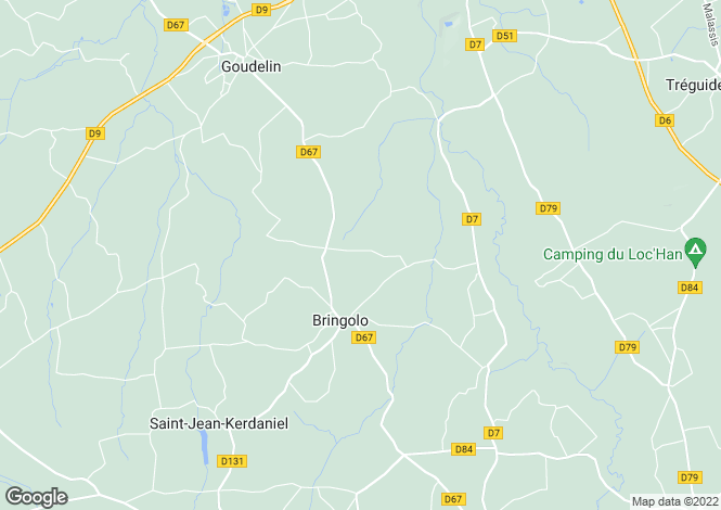 Map for Bringolo ,Brittany ,France