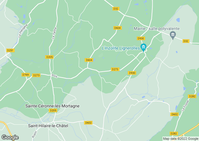 Map for champs, Orne, France