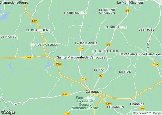 Map for ste-marguerite-de-carrouges, Orne, France