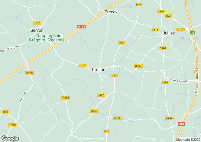 Map for Normandy, Manche, Crollon